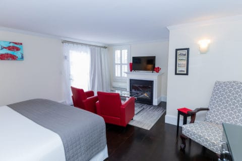 Guest Room 1 with fireplace