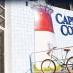 a photo of the cape cod chips factory depicting a lighthouse